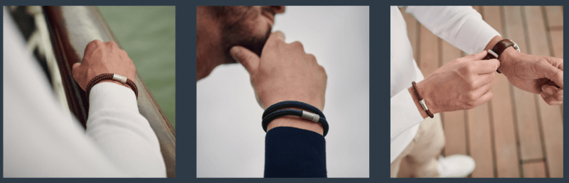 Verschillende soorten armbanden voor heren